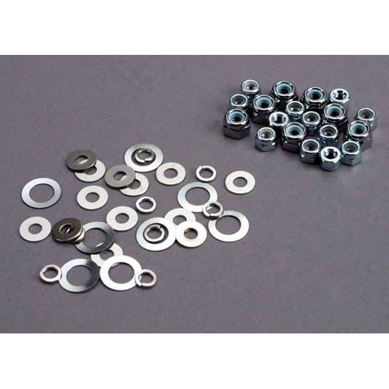Traxxas 1252 NUT SET, LOCK NUTS (3mm (11) A