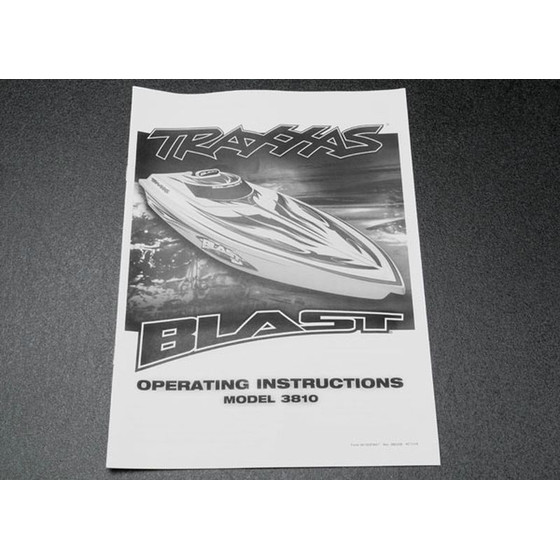Traxxas 3899X OWNERS MANUAL, BLAST