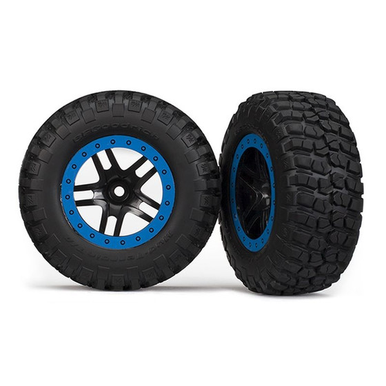 Traxxas 5883A T&W, GLUED (SCT SS BLK/BLUE BE