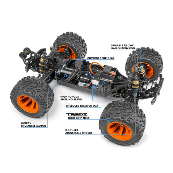 Quantum MT Flux 1/10 4WD Monster Truck - Blue